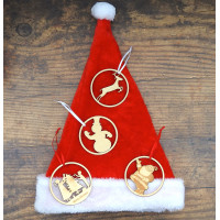 Christmas Tree Bauble Decorations Set of Four