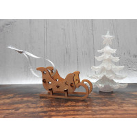 Wooden Sleigh Decoration