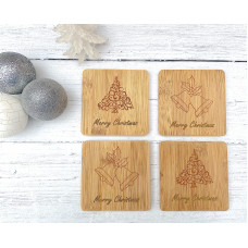 Christmas Coasters Set of Four