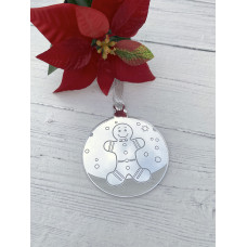 Gingerbread Man Mirrored Decoration