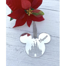 Personalised Mirrored Mouse Decoration