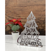 Freestanding Silver Christmas Tree Decoration