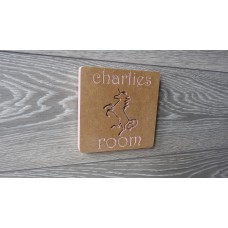 Personalised Child's Room Unicorn Sign
