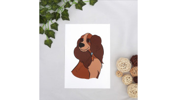Lady and the Tramp Art Print