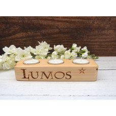Lumos Wooden Candle Holder