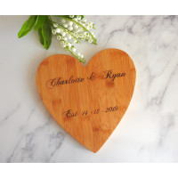 Personalised Heart Serving Board