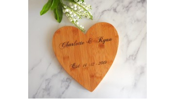 Personalised Heart Serving Board