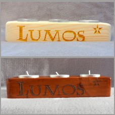 Lumos Tea Light Wooden Candle Holder
