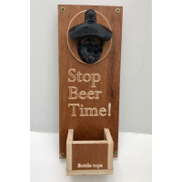 Bottle Opener With Bottle Top Catcher