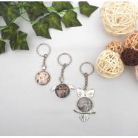 Acrylic Copper Keyring