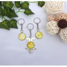 Acrylic Yellow Keyring
