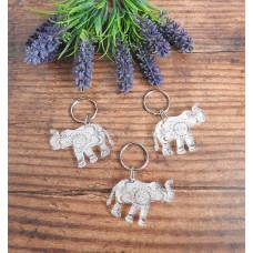 Acrylic Elephant Keyring