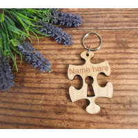Personalised Jigsaw Puzzle Piece Keyring