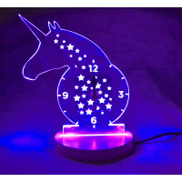 Unicorn LED Light Up Clock
