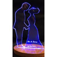 Bride and Groom Wedding LED Light Up Sign