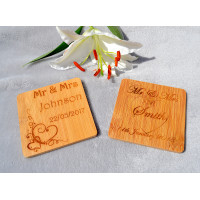 Wooden Wedding Coaster