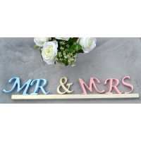 MR & MRS Letters Sign