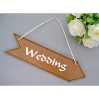 Wedding Arrow Sign