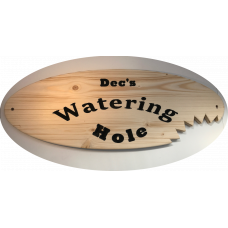 "Personalised Wooden ""Watering Hole"" Bar Accessory Sign"