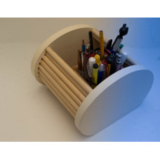 Wooden Desk Tidy Organiser